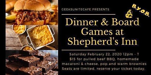 Board Games and Dinner at Shepherd's Inn In Washington Pa