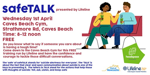 safeTALK - how to recognise and talk to people with thoughts of suicide