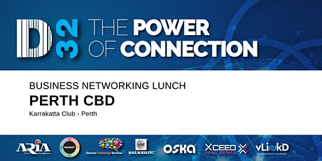 District32 Business Networking Perth – Perth CBD - Thu 30th Apr tickets