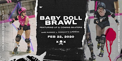 BABY DOLL BRAWL - Babe Runners vs Rosemary's LADDies - Banked Track Roller Derby