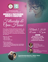 Business & Professional Women's Federation  Fellowship & Open House