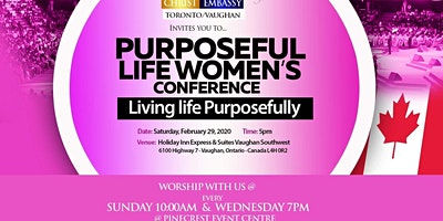 Purposeful Life Women's Conference -Living Life Purposefully