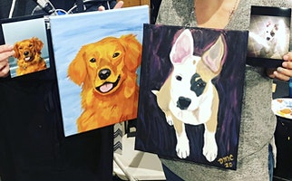 Paint your Pet Portrait Class at Trinity Vineyards