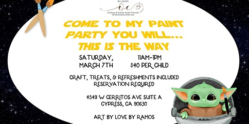 Yoda Kids Paint Event at OC Studios by Lizette