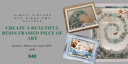 Create an Individual 8x10 Resin framed piece of Artwork