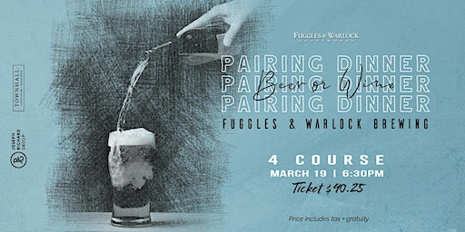 4 Course Fuggles & Warlock Brewing Pairing Dinner at Townhall Maple Ridge