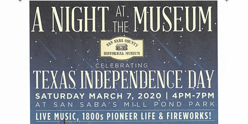 A Night at the Museum -Celebrating Texas Independence