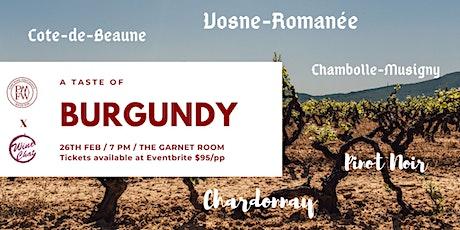 A Taste of Burgundy tickets