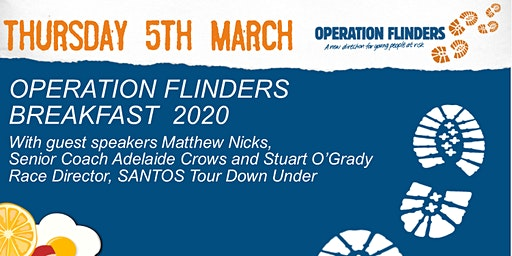 Operation Flinders Breakfast with Matthew Nicks & Stuart O'Grady