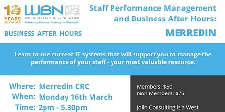 Staff Performance Management and Business After Hours tickets