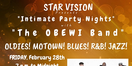 """Olde Town Conyers - Intimate Party Night w """"The OBEWI Band"""" @ Star Vision"""