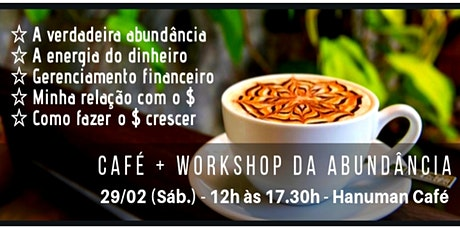 Café + Workshop da Abundância ingressos