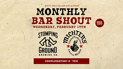 Free Beer & Whiskey Shout! Stomping Ground & Michters Whiskey tickets