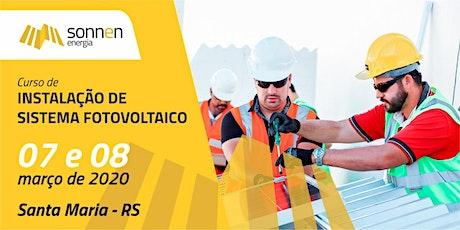 CURSO DE INSTALAÇÃO SOLAR FOTOVOLTAICA ingressos