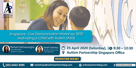 Live Demonstration Workshop – Motivating a Child with Autism (ASD) tickets