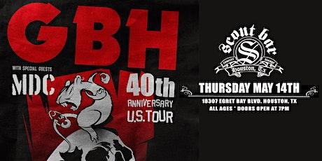 GBH  - 40th Anniversary U.S Tour tickets
