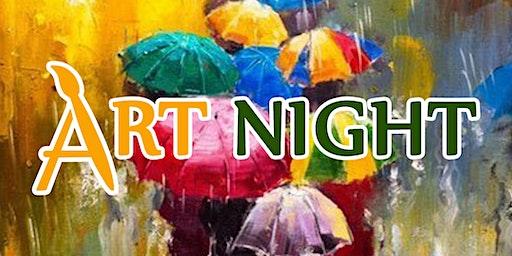 April Painting ArtNight: Umbrellas & Acrylics