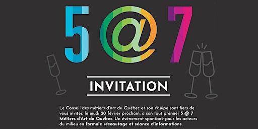 CMAQ Invitation 5@7 Métiers d'art du Québec / Devenir membre