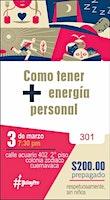 Cómo tener más energia personal