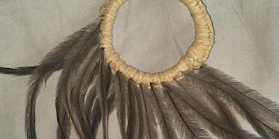 Weaving with Emu Feathers