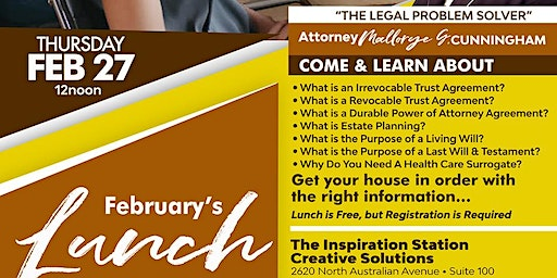 Lunch & Learn  Get Your House in Order with the Right Information