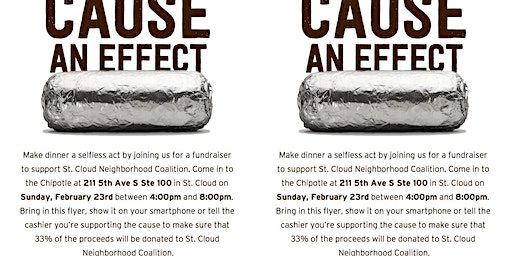 Chipotle Fundraiser for the St. Cloud Neighborhood Coalition