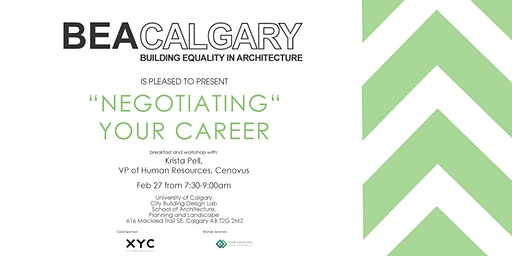 """BEAC Presents """"Negotiating"""" Your Career with Krista Pell VP Cenovus"""