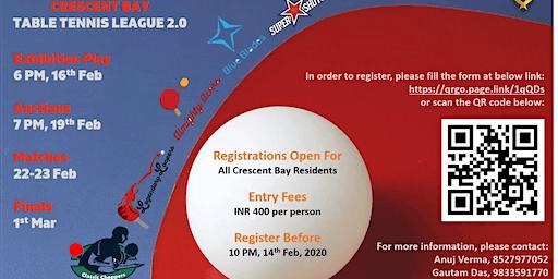 Crescent Bay Table Tennis League 2.0