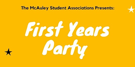 McASA First Years Party tickets
