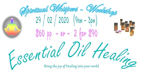 Essential Oil Healing - 1 person tickets