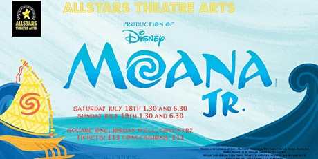 Moana Jr the musical tickets