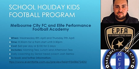 Melbourne City FC School holiday's Football program tickets