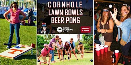 CORNHOLE, LAWN BOWLS & BEER PONG at Bondi Beach tickets