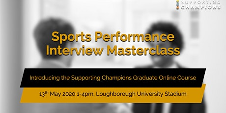 Sports Performance Interviewing Masterclass tickets