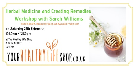 Make Your Own Herbal Remedies with Sarah Williams tickets