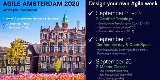 AGILE AMSTERDAM 2020 | September 22 - 25 | Conference, Workshops, Open Space and optional Master Classes & Certified Trainings