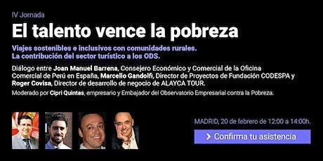 Jornada El talento vence la pobreza. Viajes sostenibles e inclusivos con comunidades rurales. entradas