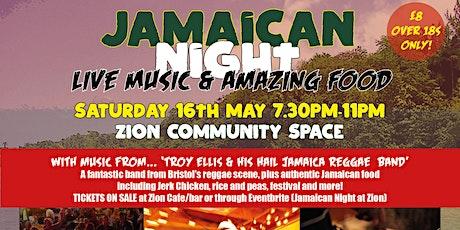Jamaican Night at Zion tickets
