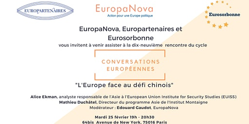 Conversation Européenne #19: L'Europe face au défi chinois