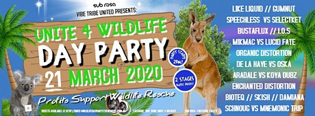 "VIBE TRIBE UNITED PRESENTS ""UNITE 4 WILDLIFE DAY PARTY"" tickets"