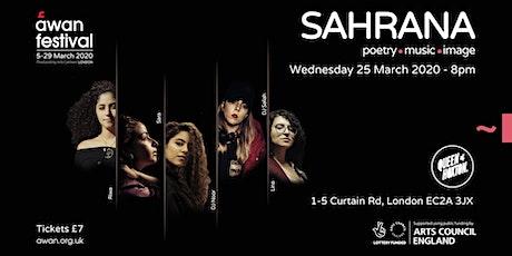 SAHRANA - AWAN FESTIVAL tickets