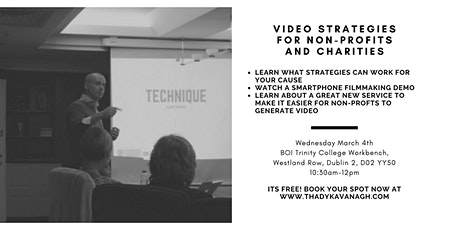 Video Strategies for Non-Profit Groups and Charities tickets