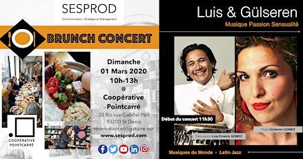 Brunch - Concert @ Coopérative Pointcarré avec Luis et Gülseren billets