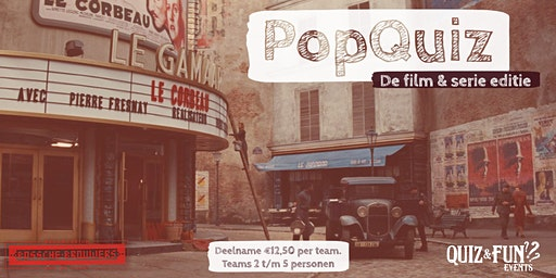 PopQuiz. De Film & Serie editie
