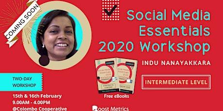 SOCIAL MEDIA ESSENTIALS 2020 - INTERMEDIATE LEVEL WORKSHOP tickets