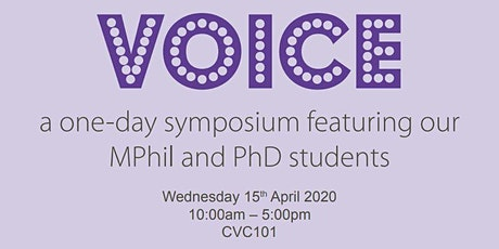 VOICE: A PGR SYMPOSIUM tickets