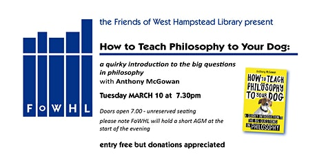 How to Teach Philosophy to Your Dog, with Anthony McGowan tickets