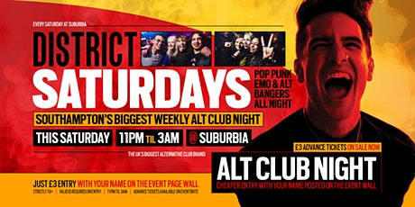 DISTRICT Southampton // Throwback Alt Anthems // Every Saturday at Suburbia tickets