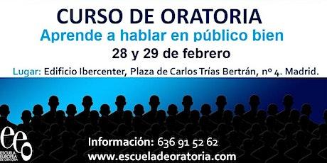 Curso Oratoria - Hablar en Público entradas