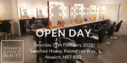 The Norwich School of Beauty Open Day - Saturday 29th February 2020
